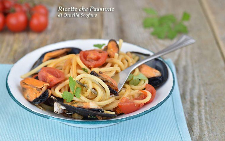 Spaghetti con le Cozze al Pomodorino