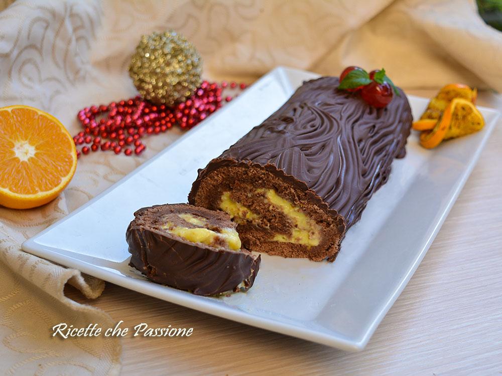 Tronchetto di Natale Cioccolato e Arancia