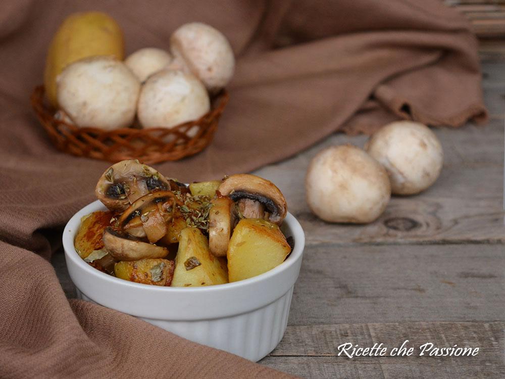 Patate e funghi in padella senza frittura