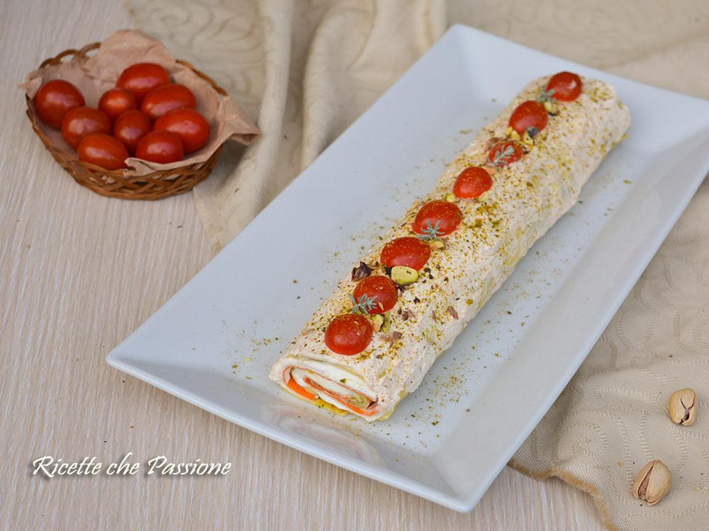 Tronchetto zucchine surimi e philadelphia