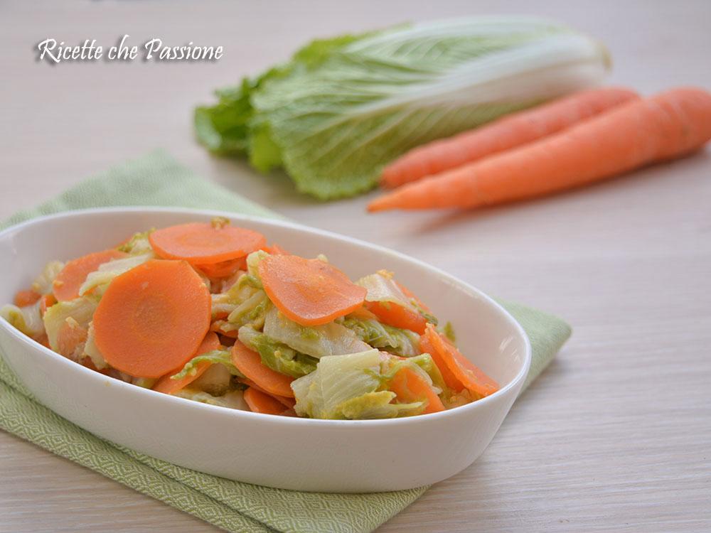 Cavolo cinese con carote al latte