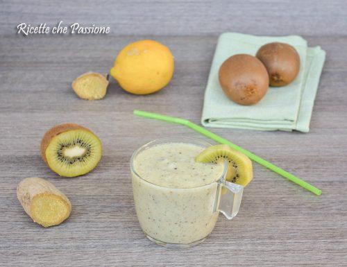 Frullato al Kiwi con zenzero e limone Sgonfia pancia