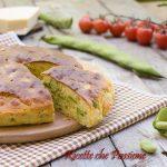 Torta salata ricotta e fave sofficissima