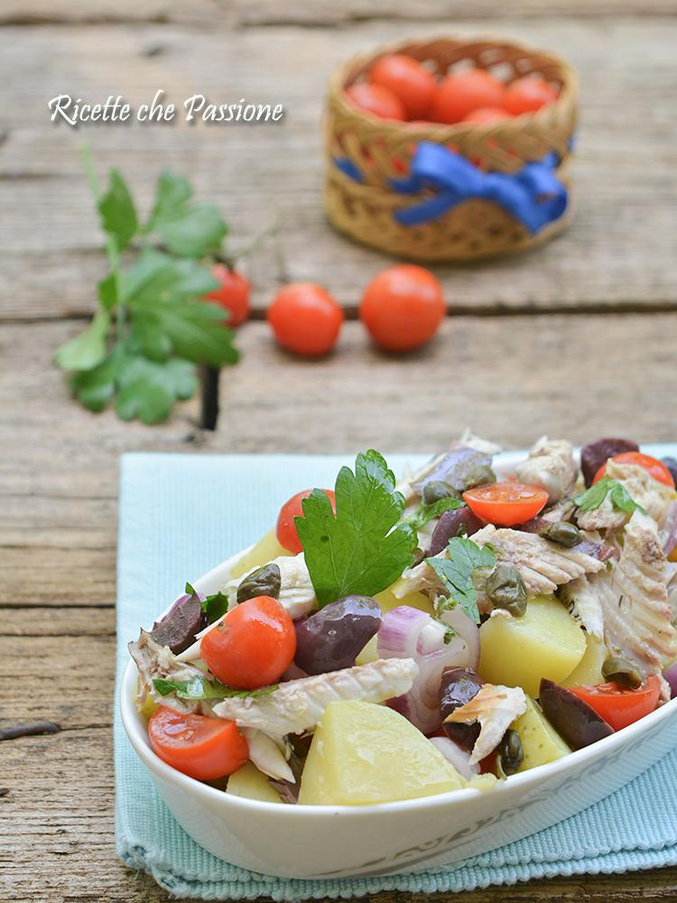 insalata di patate e sgombro