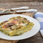 Lasagne con zucchine al forno