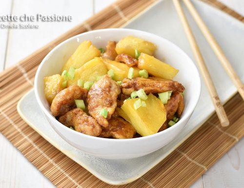 Pollo all'ananas ricetta cinese