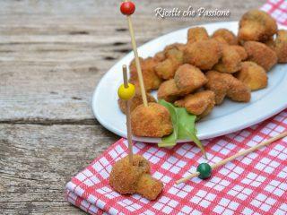 funghi champignon impanati e fritti