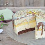 Torta bavarese al pistacchio e cioccolato
