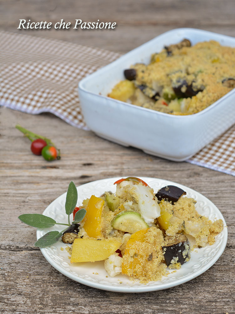 verdure sabbiose gratinate al forno