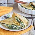 Crepes ricotta e spinaci gratinate