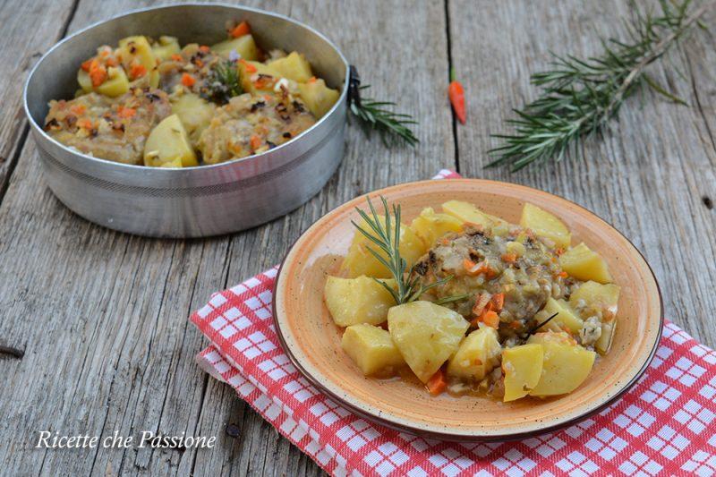 Ossibuchi di tacchino al forno con patate