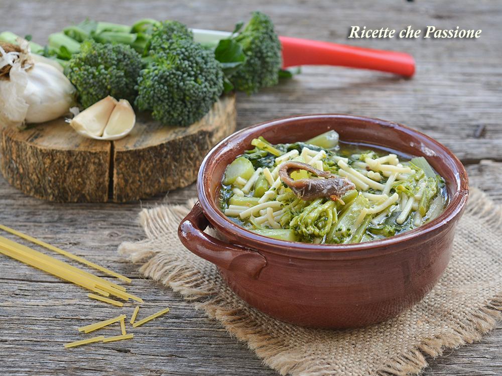 Minestra di pasta e broccoli ricette che passione for Piatto tipico romano
