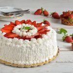 Torta panna e fragole facile e veloce