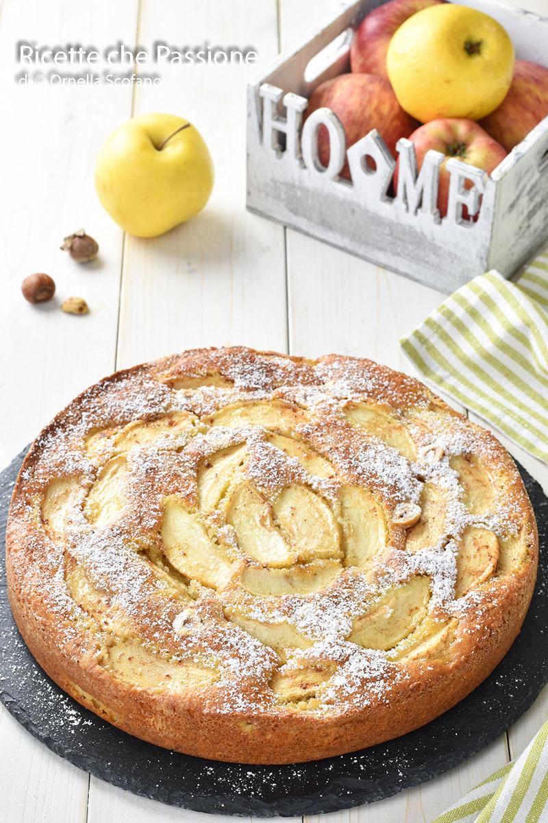 torta di mele con nocciole e yogurt