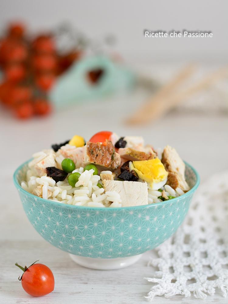 insalata di riso con tacchino arrosto
