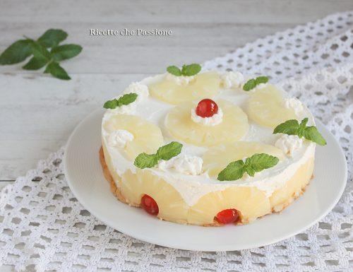 Torta fredda all'ananas con mascarpone