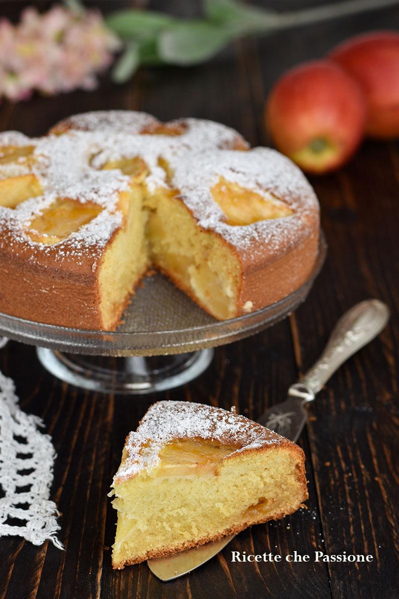 torta di mele al latte caldo hot milk sponge cake alle mele