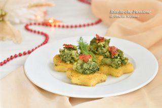 crostini di polenta con broccoli