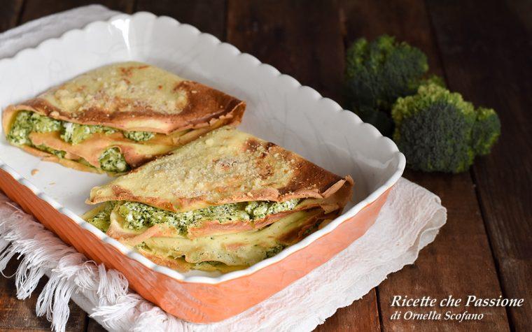 Crepes ricotta e broccoli gratinate al forno