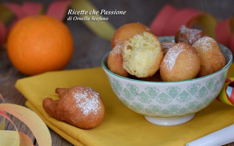 Frittelle di Carnevale all'arancia