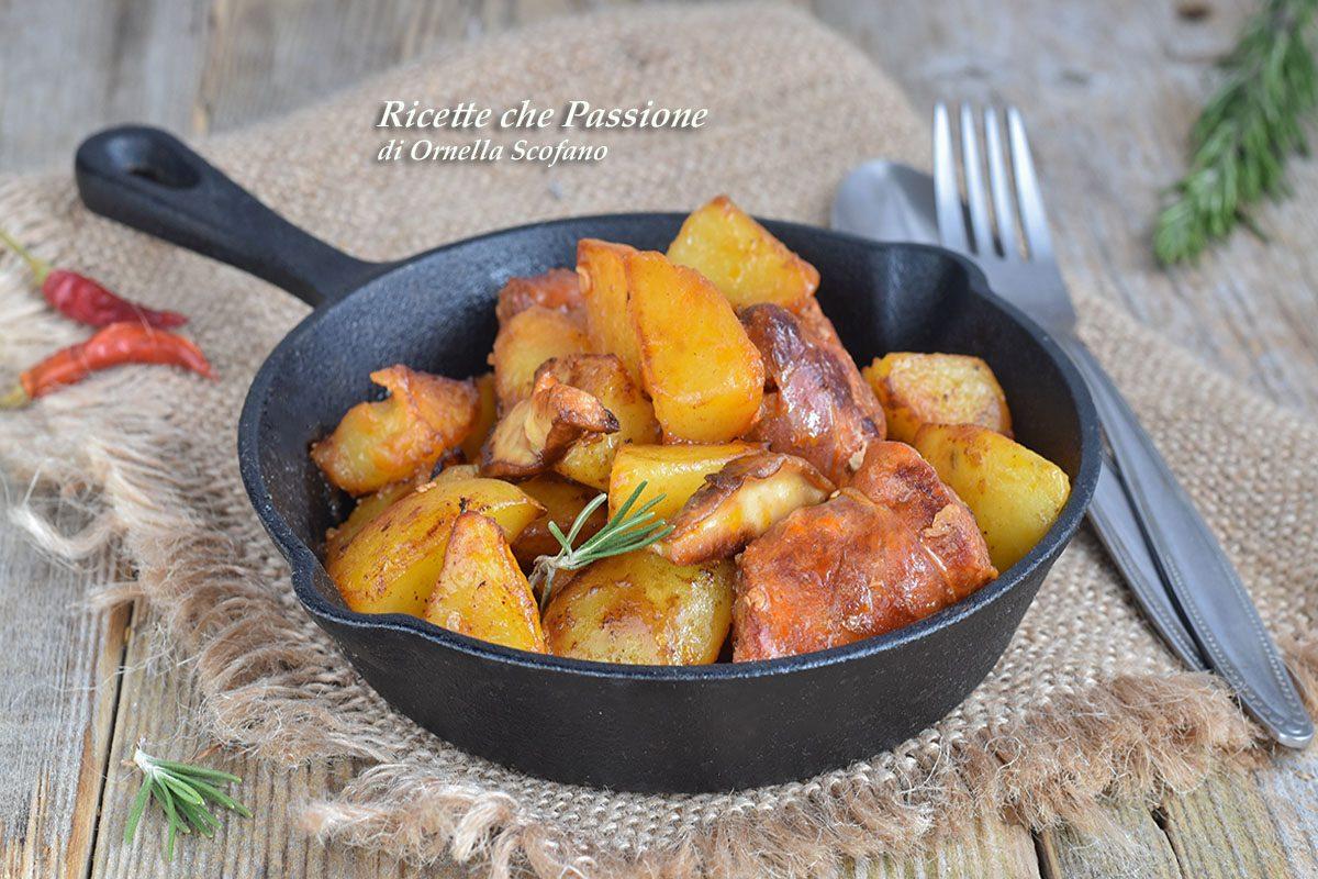 patate con salsiccia e funghi porcini