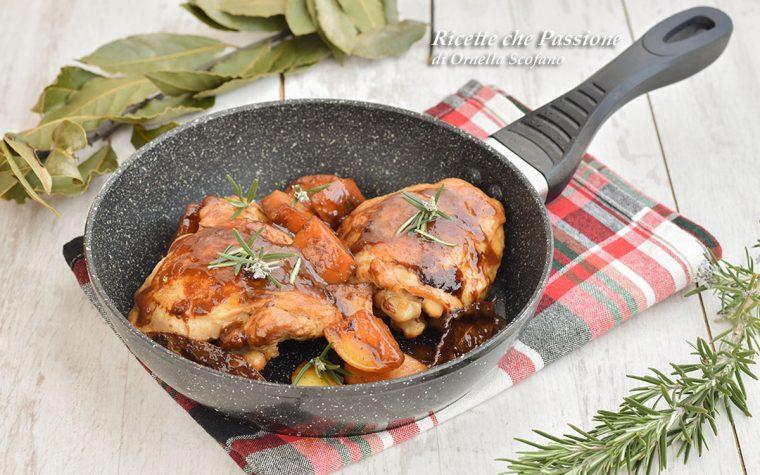 Pollo con patate in padella – Con sovracosce