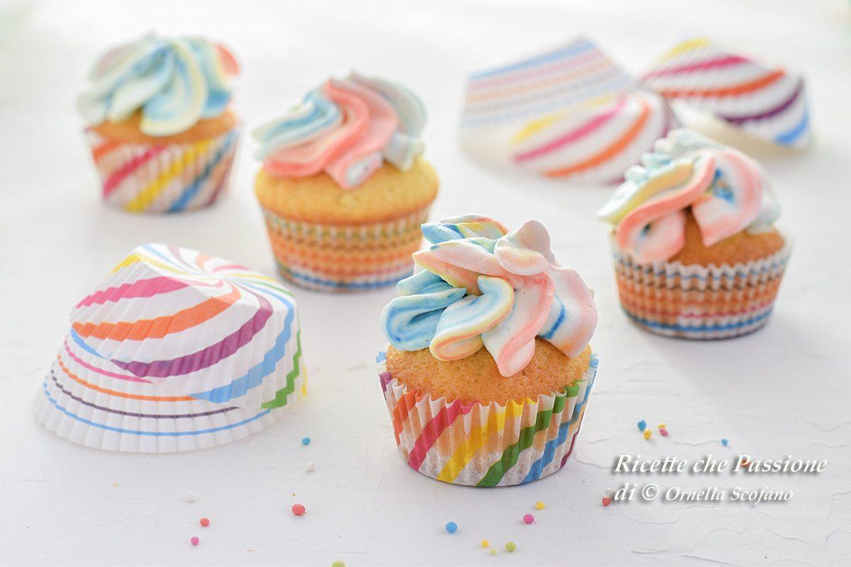 cupcake arcobaleno di Carnevale