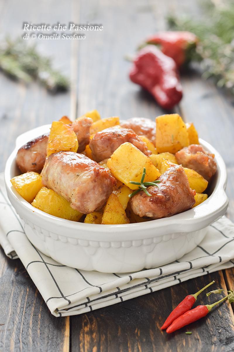 patate con salsiccia al forno