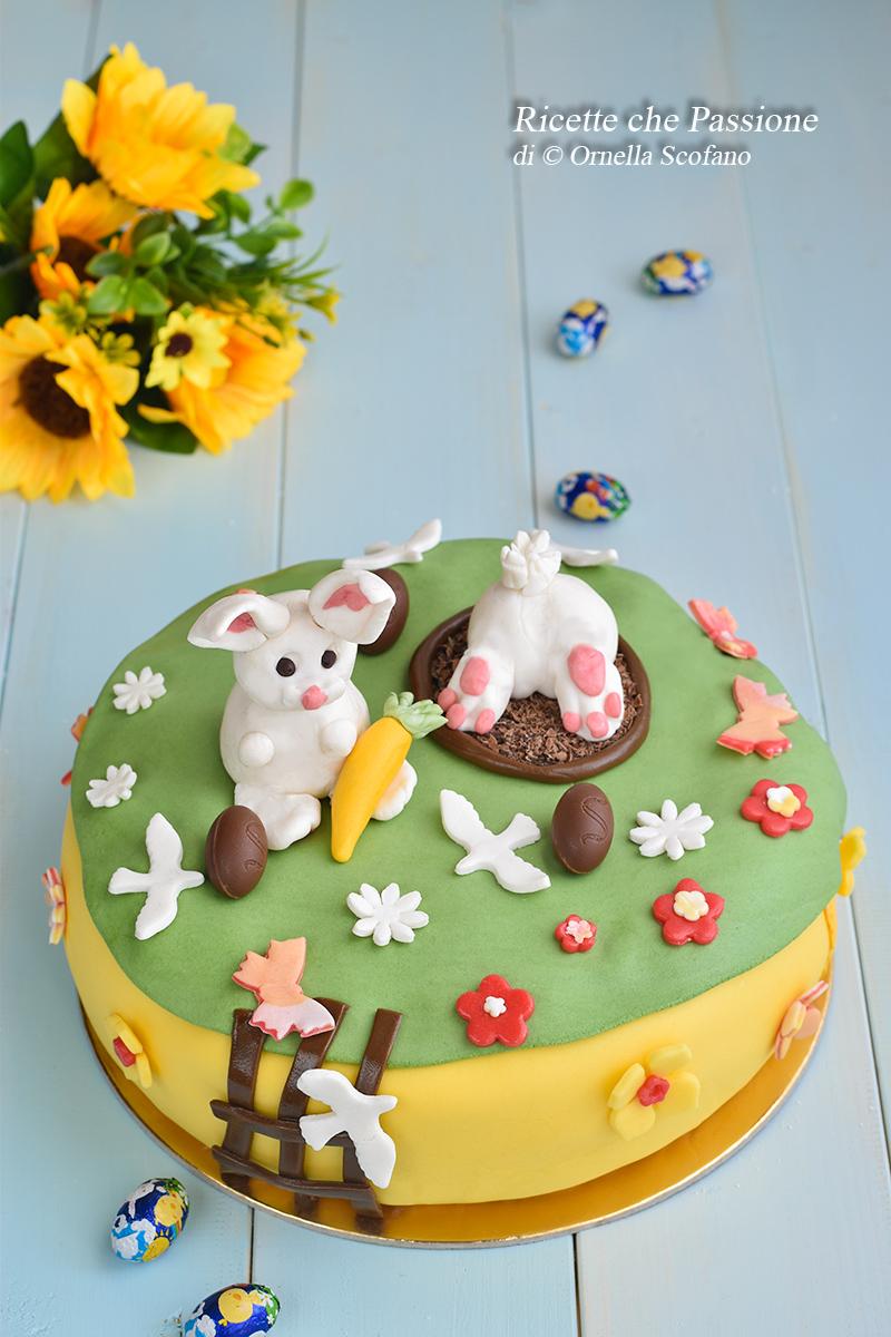 torta di Pasqua in Pasta di zuccherof