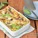 Lasagne con pesto di basilico e melanzane