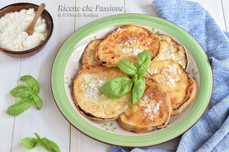 Melanzane in pastella al parmigiano