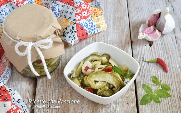 Zucchine sott'olio – ricetta calabrese