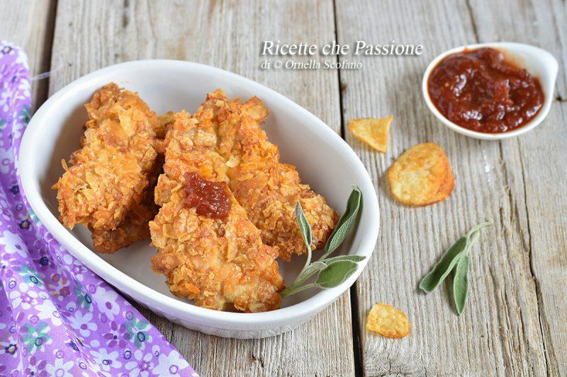 Petti di pollo con panatura di patatine alla paprika