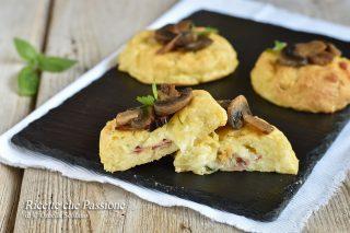 medaglioni di patate con speck e mozzarella