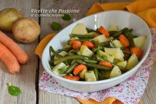 insalata di patate fagiolini e carote