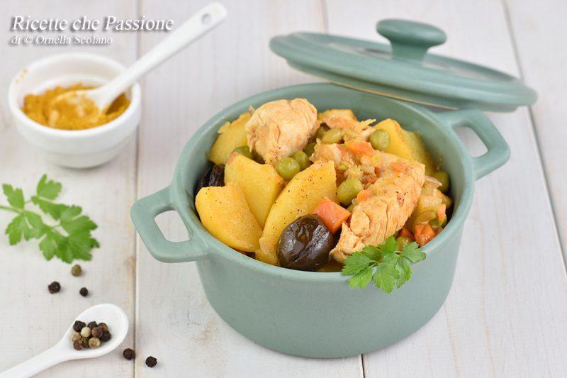 Stufato di pollo al curry con verdure