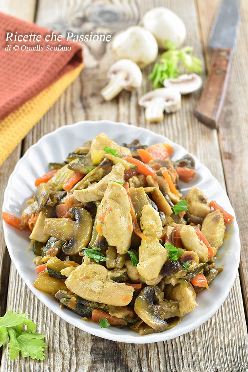 pollo con verdure alla salsa di soia