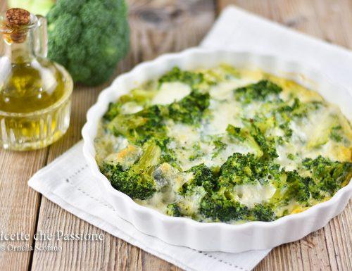 Broccoli con mozzarella al forno