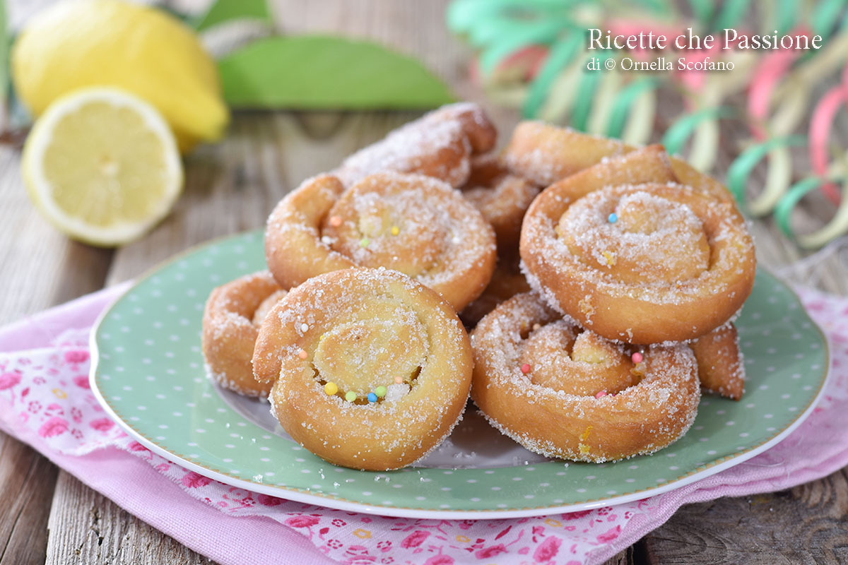 limoncini dolci di carnevale
