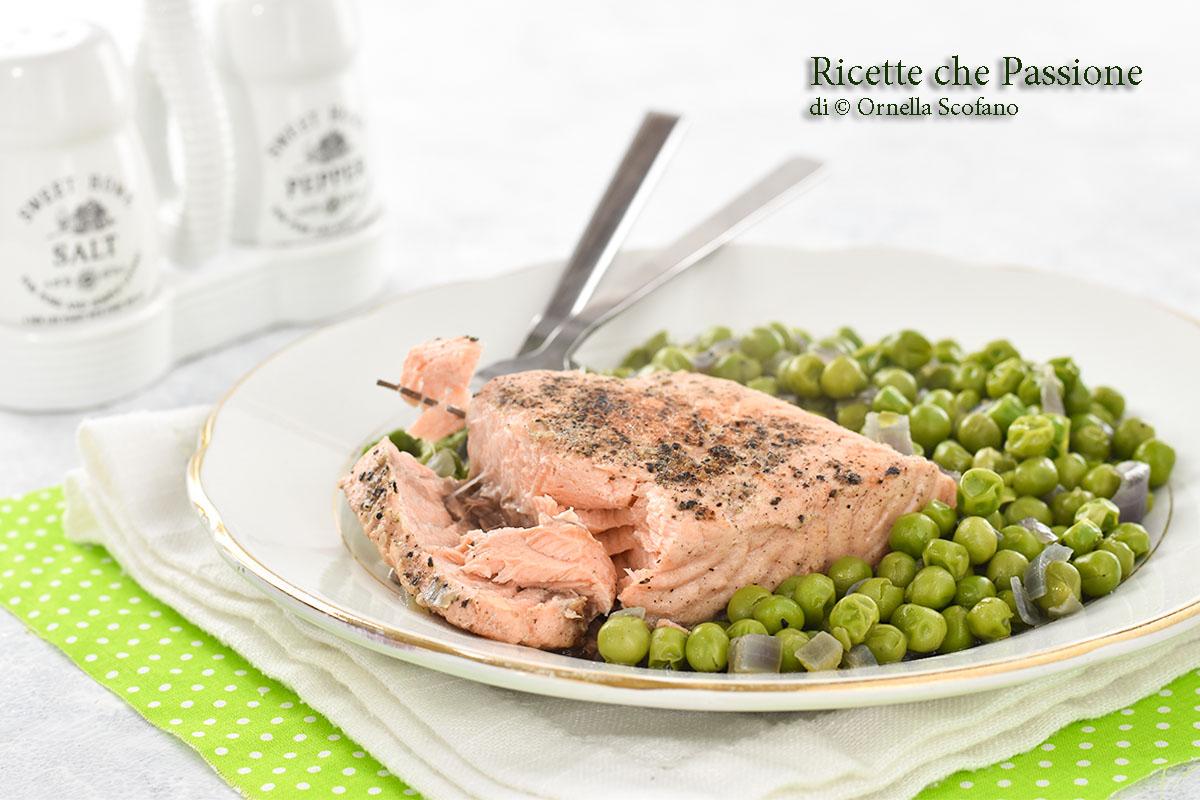 salmone con piselli
