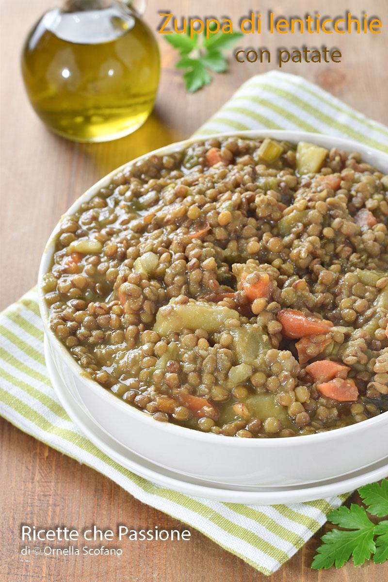 zuppa di lenticchie con patate