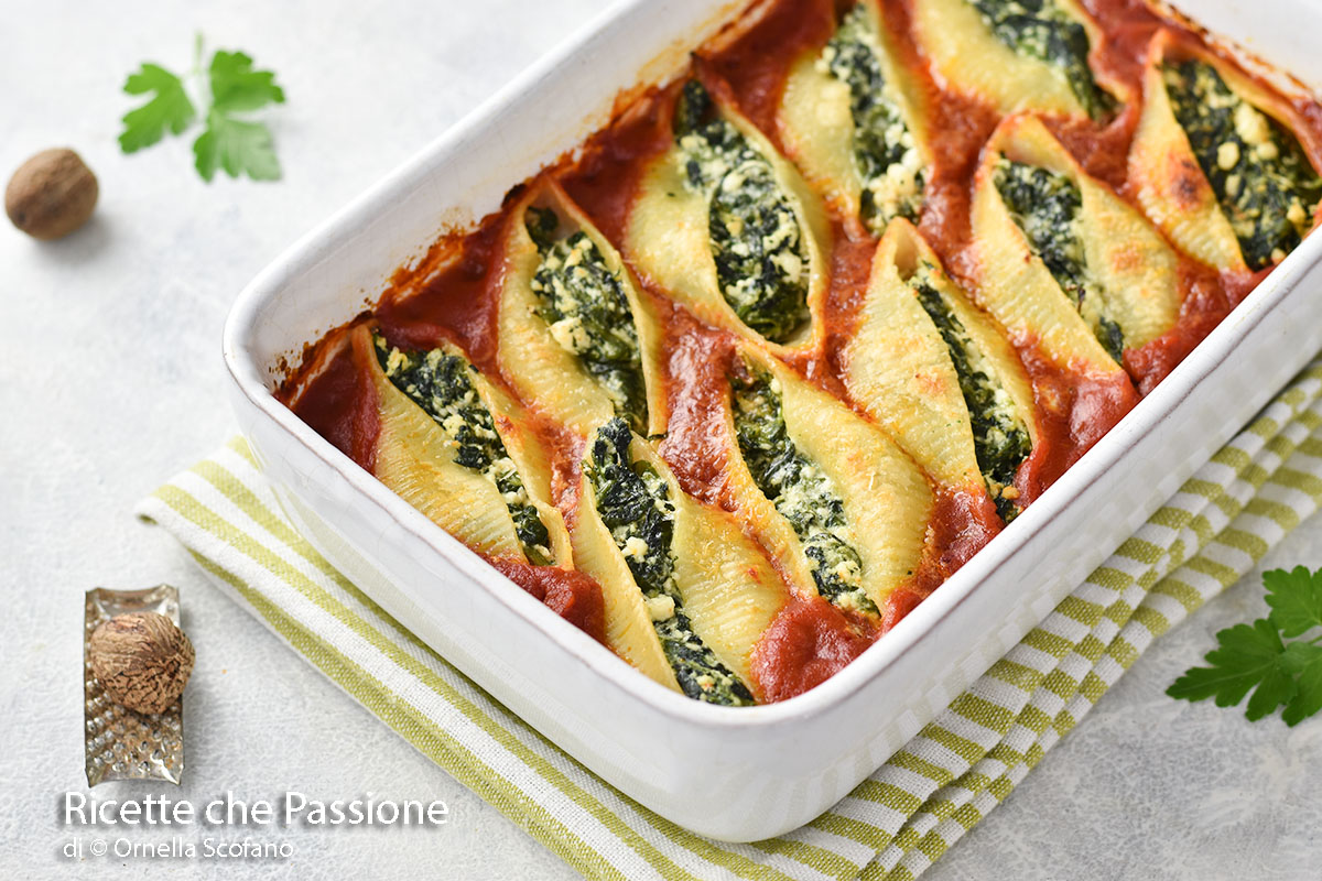 conchiglioni ricotta e spinaci fatto in casa