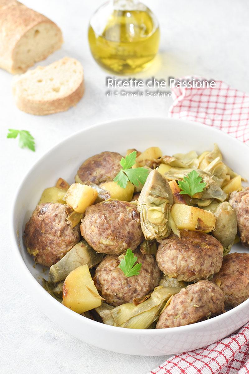 polpette con carciofi e patate