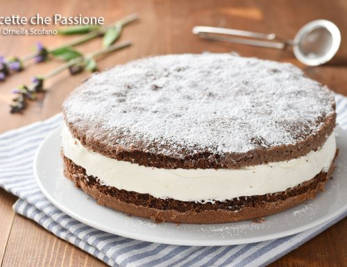 Torta paradiso al cioccolato con crema paradiso