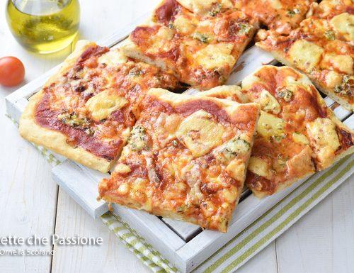 Pizza con farina 0 senza impasto con poco lievito