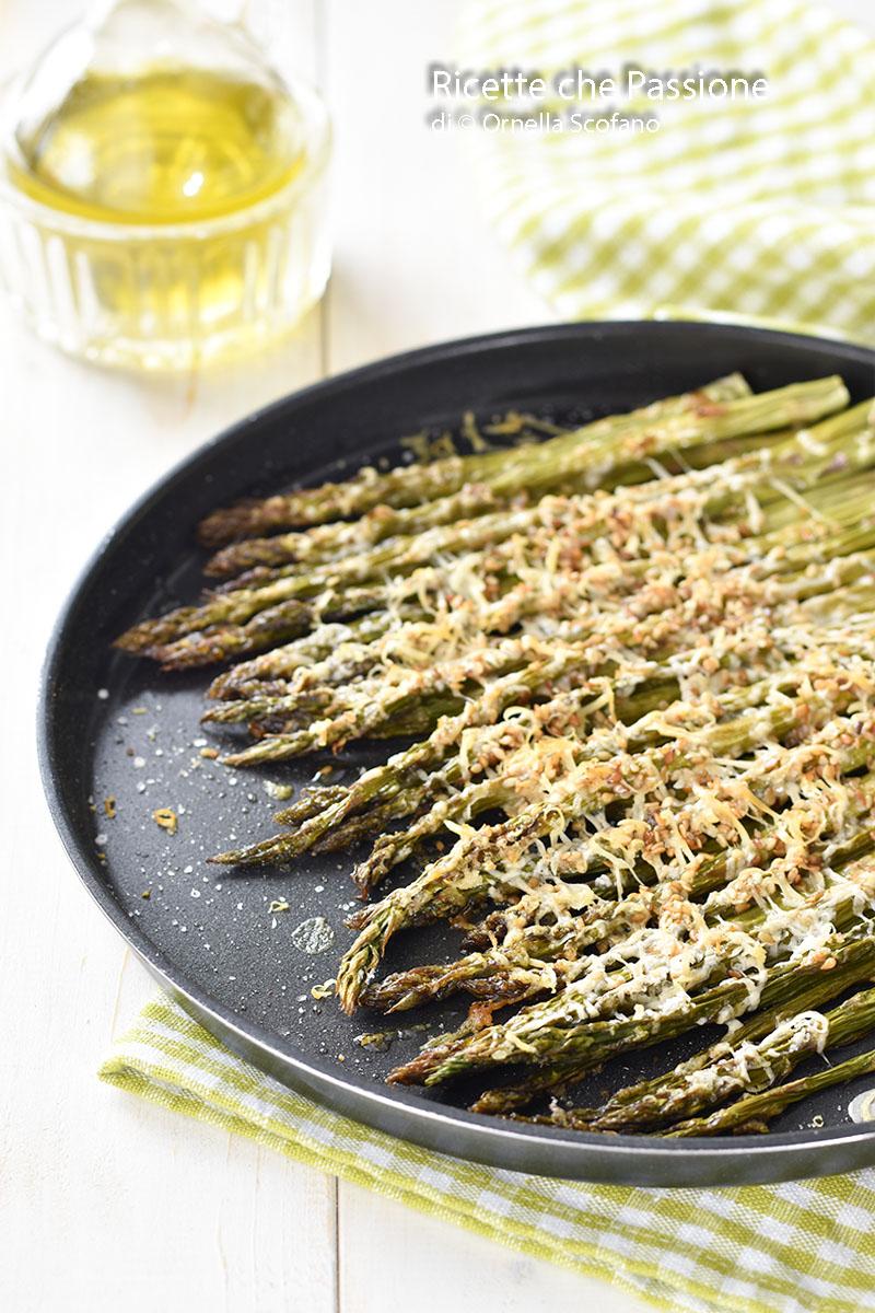 asparagi al forno al parmigiano