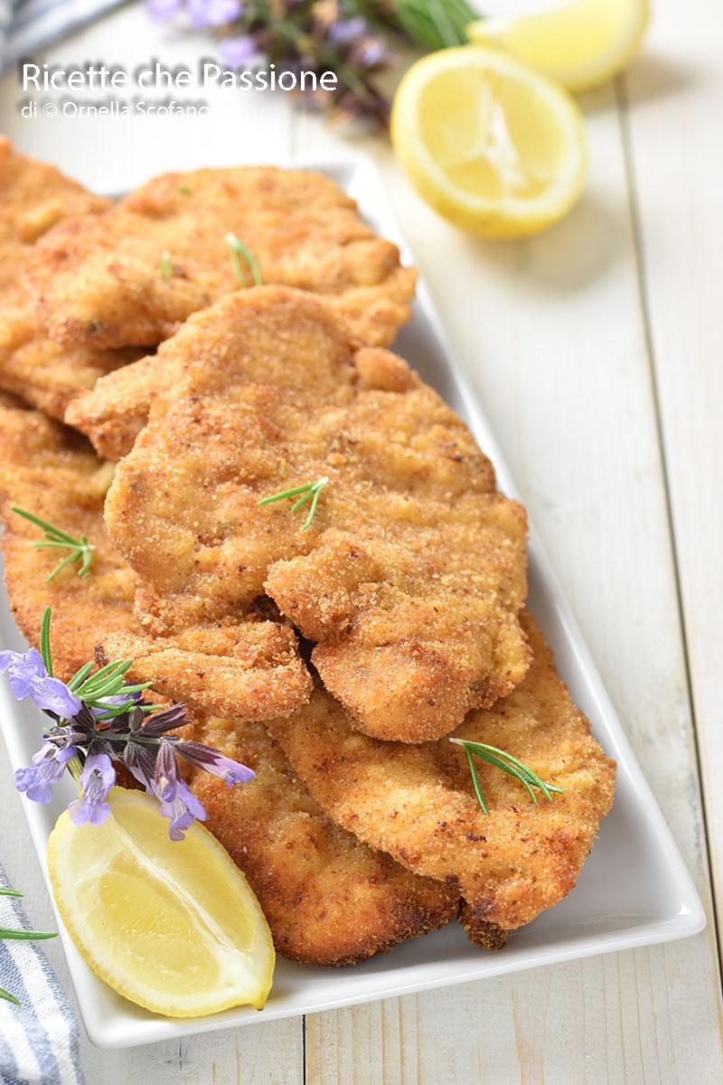 ricetta fettine di pollo impanate