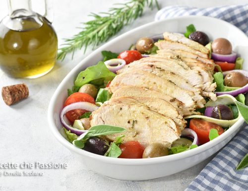 Tagliata di pollo con insalata