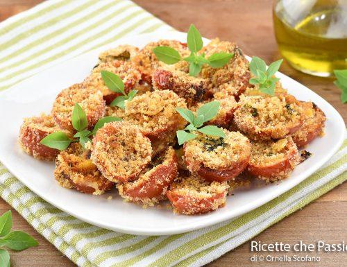 Pomodori gratinati al forno antipasto sfizioso