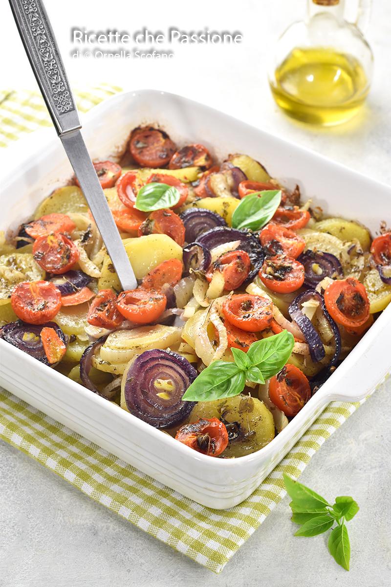 ratatouille di verdure al forno leggere e saporite